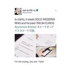 """1,231 Likes, 10 Comments - VIKTORU NIKIFOROV (@gayiceskating) on Instagram: """"I would like to dedicate this post to the people that are saying that it wasn't a wedding ring. YOU…"""""""