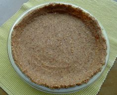 raw nut + date pie crust  Real Food Matters