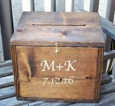 Wedding Card Box Large Card Box Rustic by EagleCapCreations