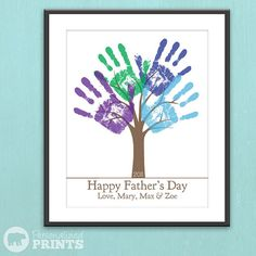 Will do a New House one with all of our handprints!  - Child's Handprint Tree
