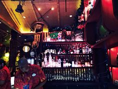 Bar view inside Trader Sam's