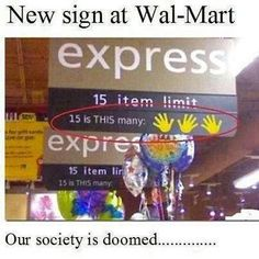 Actually might help people realize that their cart full of grocieries is NOT for the express line...