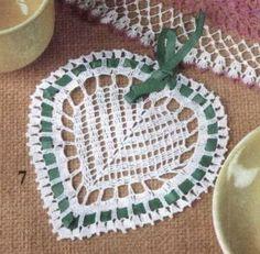 Patrón de corazón tejido al crochet   Todo crochet