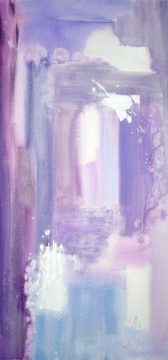 """Soft Purples"" Ora Birenbaum watercolors"