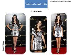 Confira no blog Universo da Moda & Cia., look estiloso com mix de estampas, para se inspirar.