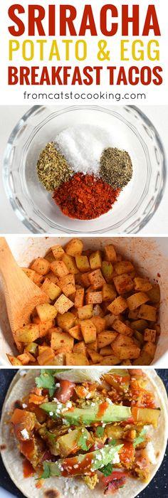 Breakfast tacos, Crispy potatoes and Fried eggs on Pinterest