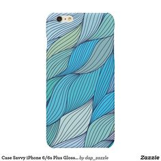 Case Savvy iPhone Plus Glossy Finish Case - blue gifts style giftidea diy cyo New Green, 6s Plus, All Design, Iphone Case Covers, Illustrators, Iphone 6, Pattern Design, Create Your Own, It Is Finished