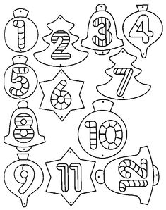 coloriages calendrier de l'avant (feuille n°1) Kindergarten Christmas Crafts, Christmas Activities For Kids, Christmas Mood, Noel Christmas, Christmas Crafts For Kids, Xmas Crafts, Christmas Colors, Christmas Projects, Christmas Tree Template