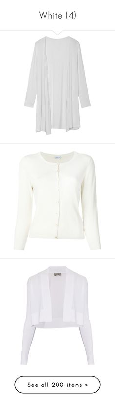 """White (4)"" by glitterals ❤ liked on Polyvore featuring tops, cardigans, white, white long sleeve cardigan, long sleeve tops, slim fit cardigan, white cardigan, long sleeve cardigan, outerwear and cardigan top"
