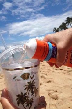 17 Ways To Sneak Booze Onto The Beach @Kendra Barr @Jayeli Tucker @Star Hundal @Lacy G  @beth sanders