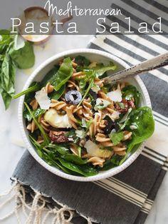 be5b6410da52 Whole Wheat Mediterranean Pasta Salad - Typical Domestic Babe Healthy Pasta  Recipes
