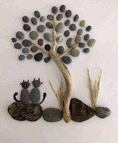 Stone Crafts, Rock Crafts, Diy Home Crafts, Fun Crafts, Arts And Crafts, Paper Crafts, Caillou Roche, Pierre Decorative, Decorative Pebbles