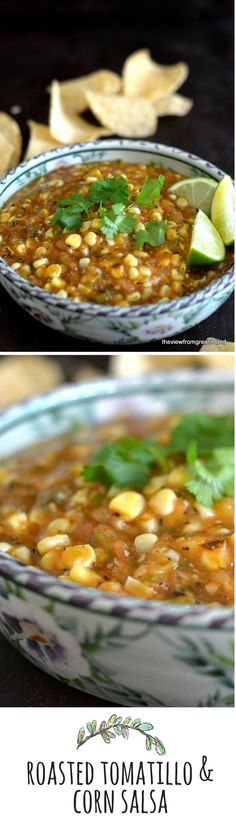 Fire Roasted Tomatillo & Corn Salsa