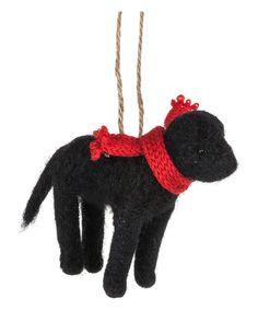 Love this Black Dog Ornament on #zulily! #zulilyfinds