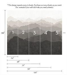 Unser Bilderbuch-Berg Wandbild Wandkunst erzeugt die Illusion von Tiefe und Geräumigkeit in einem kleinen Raum, und fügt die Pracht der größere Räume. Ideal für gemütliche und moderne Kindergärten, Schlafzimmer und Wohnzimmer. Das allgemeine Muster wiederholt alle 5 Seiten. Jedes Blatt