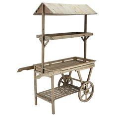 Chariot en bois naturel H 174 cm PRIMEURS