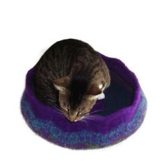 Cat Bed Hand Knit Felted Peruvian Highland Wool Pet
