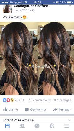 17 Stunning Examples of Balayage Dark Hair Color - Style My Hairs Balayage Hair, Ombre Hair, Bayalage, Haircolor, Hair 2018, Brunette Hair, Hair Highlights, Golden Blonde Highlights, Great Hair