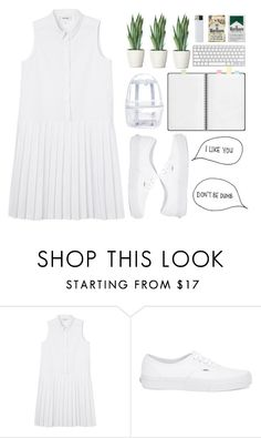 """""""#108"""" by flowersblood ❤ liked on Polyvore featuring moda, Monki, Vans, Topshop e American Apparel"""
