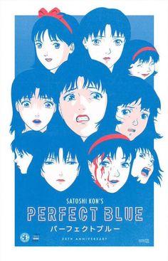 Official website / Wiki / IMDb Satoshi Kon (今 敏) was a Japanese anime directer, writer, and manga artist. Art Anime, Anime Kunst, Aesthetic Art, Aesthetic Anime, Poster Anime, Satoshi Kon, Japanese Poster Design, Blue Anime, Japon Illustration