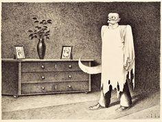 Ghost With Butcher Knife, 1934  Franz Sedlacek