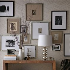 Gallery Wall Linen and Silver Frames | West Elm