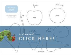 DIY Very Hungry Caterpillar Felt Book + Free Printable | Lavender's Blue Designs