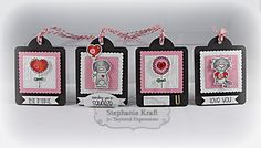 Valentine Tags by Stephanie Kraft #Tags, #ValentienesLove, #EmbosddingFolders, #TE, #ShareJoy