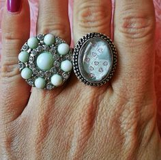 Bunny Rabbit and hearts Adjustable Ring for trendy by StarrJoy16, $6.00