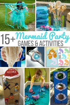 Mermaid Party games and activities for the mermaid birthday on a budget! Quick…