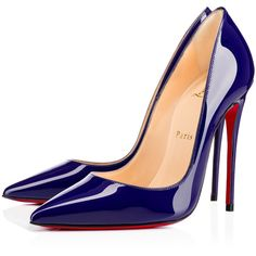 So Kate 120mm Encre Patent Leather (€565) ❤ liked on Polyvore featuring shoes, pumps, louboutin, christian louboutin, heels, pointed-toe pumps, christian louboutin pumps, stiletto high heel shoes, high heel stilettos and christian louboutin stilettos