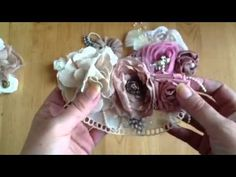 Shabby Chic Fabric Flower Accessories