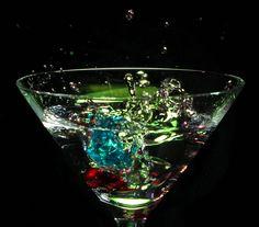 liquid art im Glas