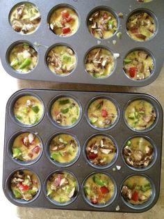 Denver egg muffins - The Holzmanns Veggie Muffins, Omlet Muffins, Eat Breakfast, Breakfast Recipes, Breakfast Ideas, Eggs In Muffin Tin, Hidden Veggies, Food N, Snacks