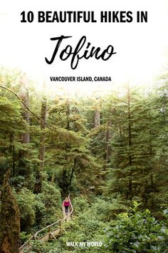 10 beautiful Tofino hikes you need to check out on Vancouver Island! We provide details on the best hikes in the area - what to expect difficulty and our account of the Wild Pacific Coast Trail. babies flight hotel restaurant destinations ideas tips Pacific Coast Trail, West Coast Trail, Pacific Northwest, Pacific West, Pacific Rim, Island Winter, Alberta Canada, Quebec, Toronto
