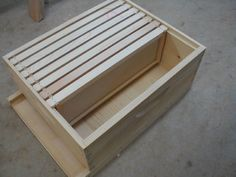 TUTORIAL How to build a bee box. honey bee hive foundation Check out the website to see Package Bees, Bee Hive Plans, Honey Bee Hives, Honey Bees, Raising Bees, Bee Boxes, Homestead Survival, Hobby Farms, Save The Bees