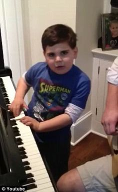 6 yr old autistic boy play Billy Joel piano classic perfectly
