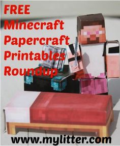 Free Minecraft Printables - Don't pay for papercraft! Use your printer and these frugal tips to save big money on easy fun.