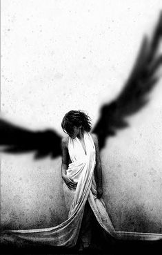 If I spread my wings and fly away into the night, you wouldn't see my wings, just my arms stretched out wide. (Ashley's words)