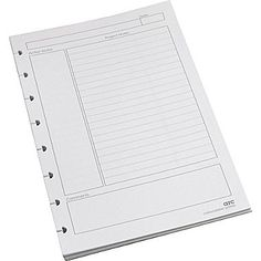 "Staples® Arc System Project Planner Premium Refill Paper, White, 5-1/2"" x 8-1/2"""