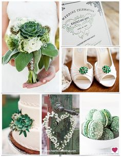 Beautiful... emerald green wedding ideas, pantone color of the year wedding ideas, trendy emerald wedding ideas, succulent wedding ideas