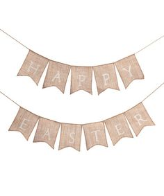 Happy Easter Burlap Banner Set | zulily