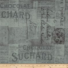 Thru 620 expedition by the half yard eclectic elements tim holtz tim holtz eclectic elements french script taupe publicscrutiny Gallery