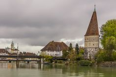 the Krumm tower, Solothurn Switzerland, Cathedral, Tower, Building, Places, Travel, Solothurn, Lugares, Viajes