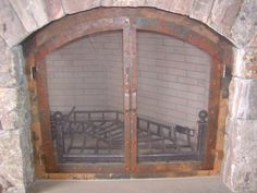 fireplace door Fireplace Doors, Fireplace Screens, Fireplace Ideas, Welding, Family Room, Rustic, Home Decor, Screens, Country Primitive