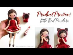 Product Preview || Little Red Pandora, Amigurumi & Crochet Doll Pattern - YouTube