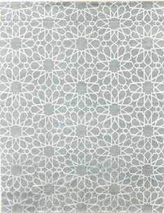 Modern Geometric Pattern Rugs Gallery: Galaxies, Modern Geometric Pattern Rug, Hand-knotted in India; size: 6 feet 2 inch(es) x 8 feet 8 inch(es)