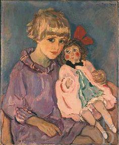 Jan Sluijters (Dutch, 1881-1957). with a doll