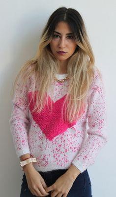 #sweater #love #heart #amor #pelo #mono #pelodemono #peludito #suave #tendencias #temporada2015 #otoño #invierno #pink