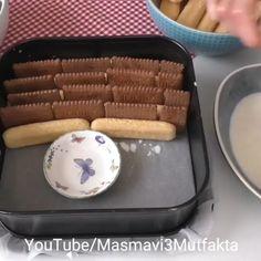 Tek kelimeyle ,sahane 😍 video👉@masmavi3mutfakta 👉@masmavi3mutfakta 👈 Ellerinize saglik 🌸🌸🌸🌸 Çok yeni bir Tarif 👌💙 Piyano Pasta olarak… Almond Recipes, Iftar, No Bake Cake, Waffles, Diy And Crafts, Projects To Try, Food And Drink, Snacks, Baking
